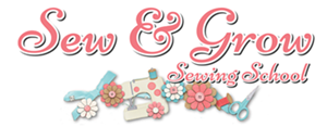 Sew and Grow sewing School Logo